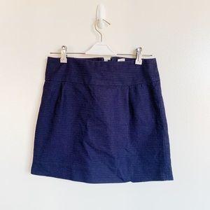 J. Crew Navy Mini Skirt Size 0